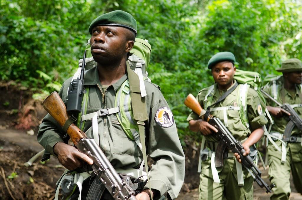 Virunga National Park rangers on patrol.