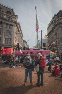 Protesta a Londra di Extinction Rebellion